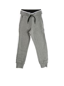 Givenchy - Gray pants with side bands with logo