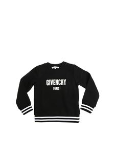 Givenchy - Black sweatshirt with black and white elastic edges