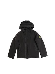 Stone Island Junior - Black padded jacket with logo