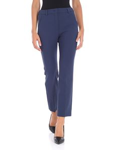 Max Mara Weekend - Pesche blue stretch trousers