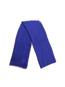M Missoni - Bluette scarf with embroidered logo