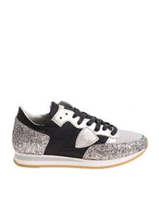 Philippe Model - Black and platinum Tropez Basic sneakers
