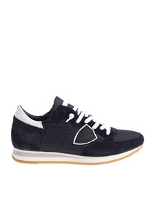 Philippe Model - Blue and white Tropez Mondial sneakers