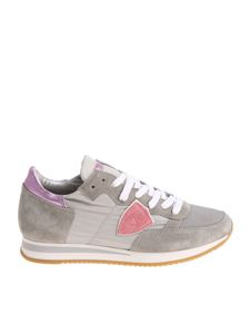Philippe Model - Grey and lilac Tropez L sneakers