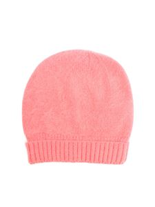 Roberto Collina - Salmon-colored angora cap
