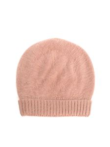Roberto Collina - Camel colored angora cap