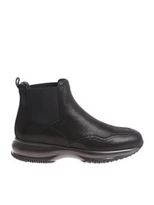 Hogan - Glossy black Interactive Chelsea shoes