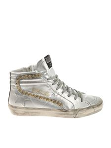Golden Goose Deluxe Brand - Silver Slide sneakers with studs