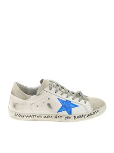 Golden Goose Deluxe Brand - Superstar white and beige vintage effect sneakers