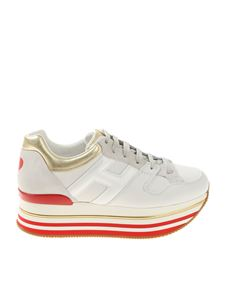 Hogan - H403 white golden and red sneakers