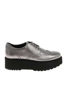 Hogan - Silver Flatform silver derby shoes