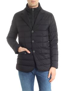Herno - Black quilted jacket with pocket