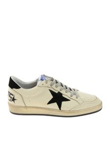 Golden Goose Deluxe Brand - Ball Star cream colored vintage effect sneakers