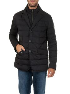 Herno - Blue down jacket with pocket