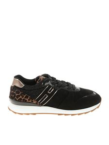 Hogan - Black R261 sneakers with fur insert