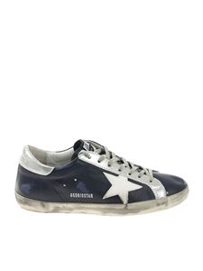 Golden Goose Deluxe Brand - Superstar blue vintage effect sneakers