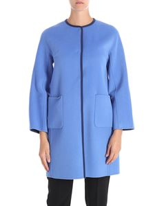 Max Mara Weekend - Panfilo light-blue reversible coat