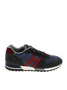Hogan - H383 blue and burgundy sneakers
