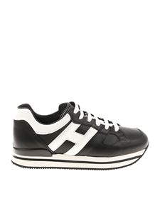 Hogan - H222 black and white sneakers