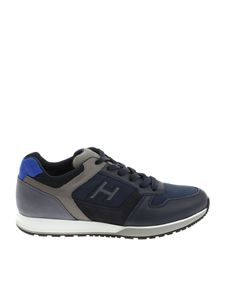 Hogan - H321 H flock blue and gray sneakers