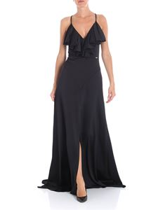 Guess - Marciano black embossed satin dress