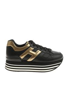 Hogan - H283 Maxi 222 black and golden sneakers