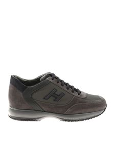 Hogan - H Flock Interactive gray and blue sneakers