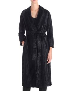 S Max Mara - Ocroma black eco-fur coat