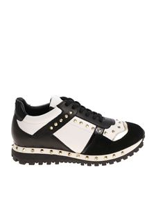 Twin-Set - Black and white sneakers with golden studs