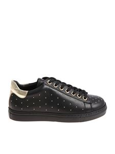 Twin-Set - Black sneakers with mini golden inserts