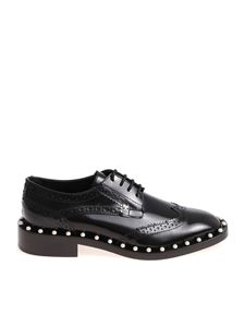 Twin-Set - Black Derby shoes with pearly details