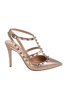 Valentino - Nude Rockstud leather pumps