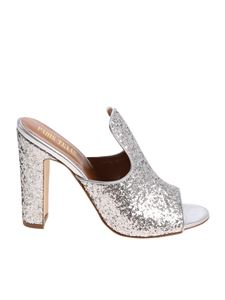 Paris Texas - Silver glittered sandals