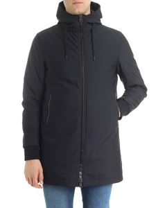 Herno - Black hooded down jacket