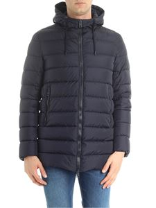Herno - Dark blue Polar-tech down jacket