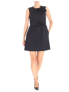 Red Valentino - Black short dress with flakes insert