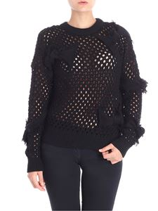 Red Valentino - Black pierced sweater with bows