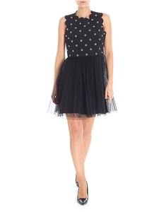 Red Valentino - Black tulle and studs minidress