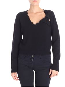 Red Valentino - Crop pullover with flake