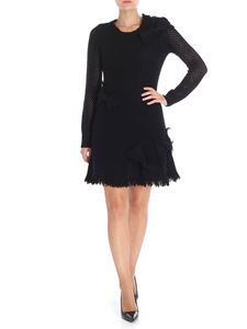 Red Valentino - Black pierced dress with bows detail