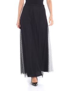 Red Valentino - Black plumetis long skirt