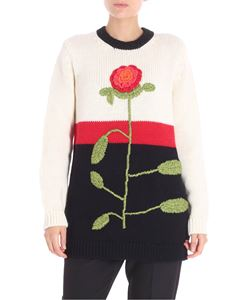 Red Valentino - Pink embroidered pullover