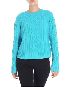 Blugirl - Turquoise braided pullover