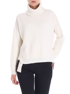Blugirl - Cream-colored Fisherman ribbed turtleneck