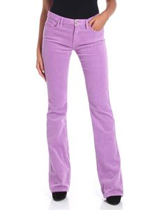 Blugirl - Lilac corduroy 5-pocket trousers