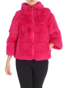 Blugirl - Fuchsia reversible fur jacket