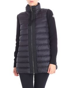 Moncler - Black tricot-effect cardigan