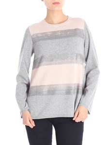 Kangra Cashmere - Grey and beige striped pullover