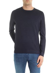 Fay - Dark blue virgin wool pullover