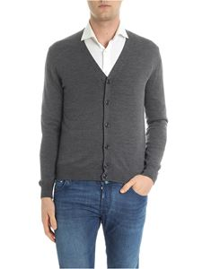 Moncler - Grey virgin wool cardigan